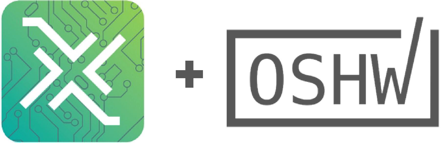 hardwarex + OSHWA certification logo